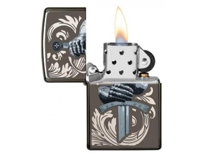 ZIPPO vžigalnik na bencin 49127 Black Ice/Color Image/Laser Engrave
