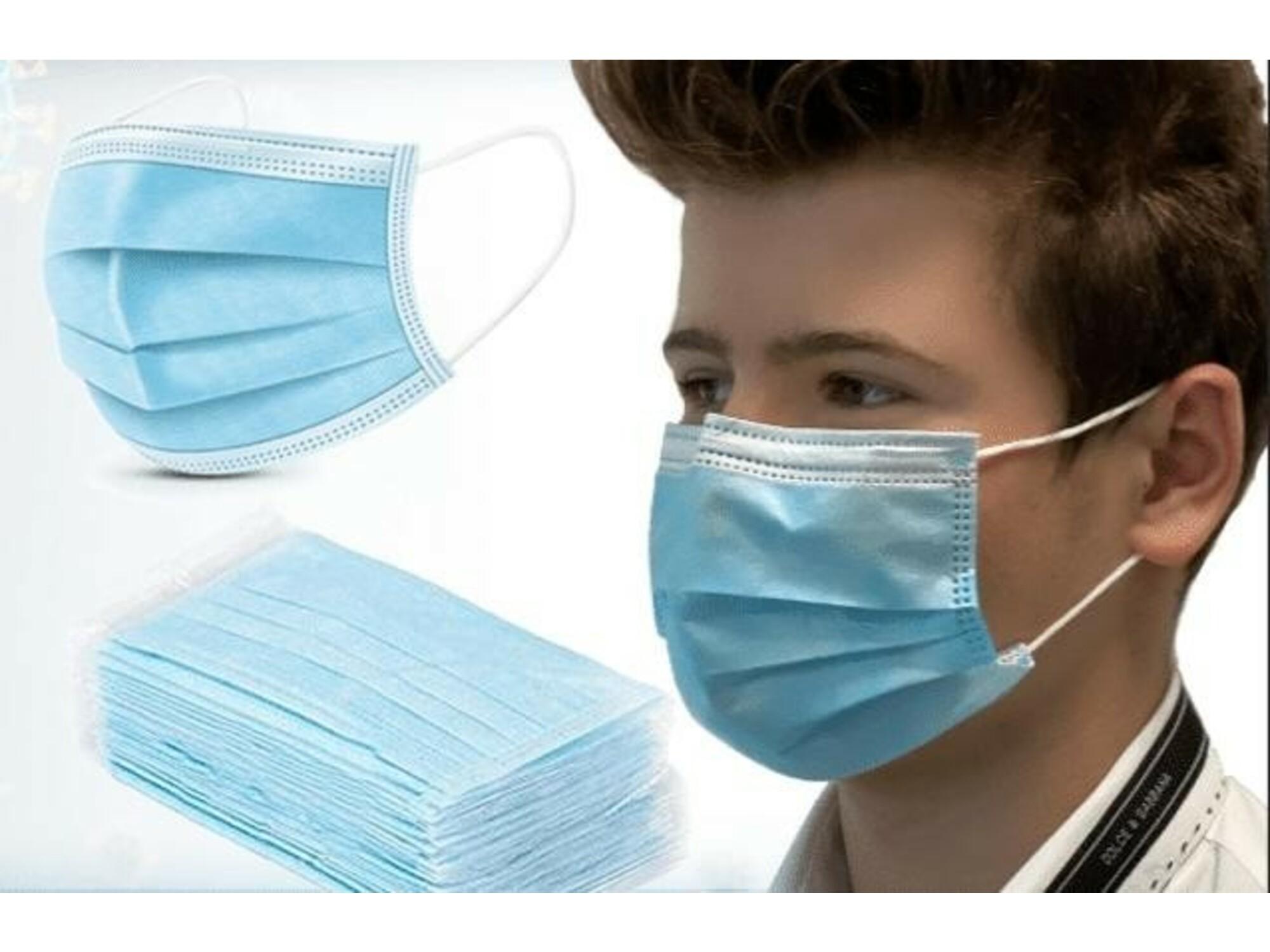 zaščitna maska 3-slojna, 50kos 3PLY
