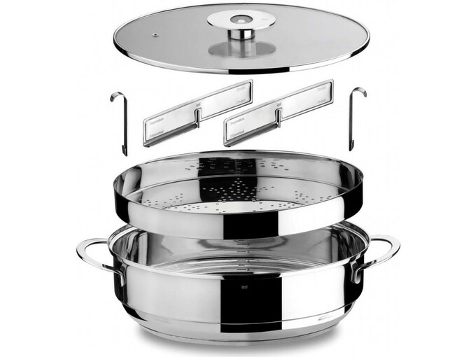MEPRA ovalna kozica+nastavek za kuhanje na pari+pokrov Natural Mind 3830063061994