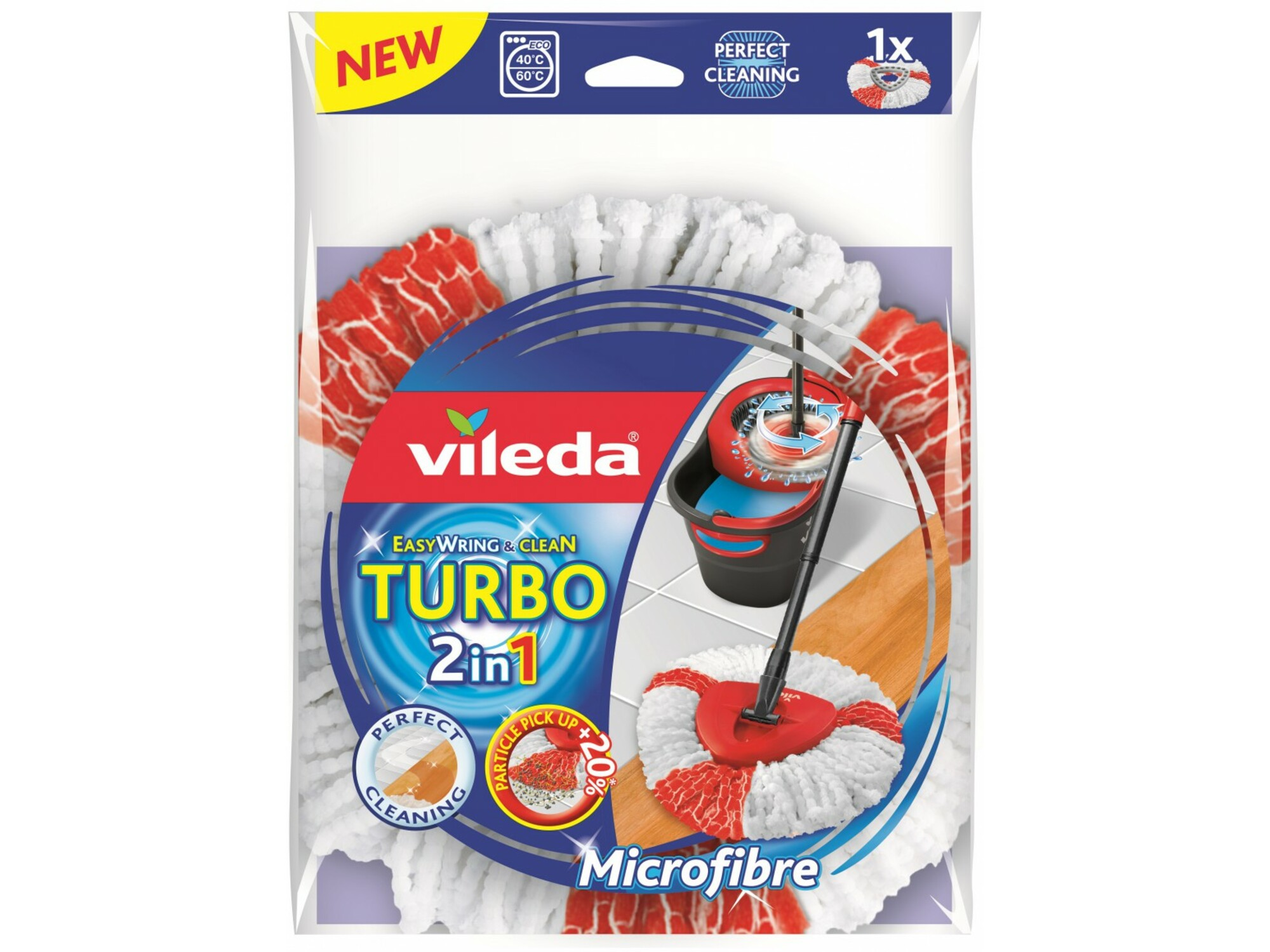 Vileda Turbo mop refil 2 u 1 6701017