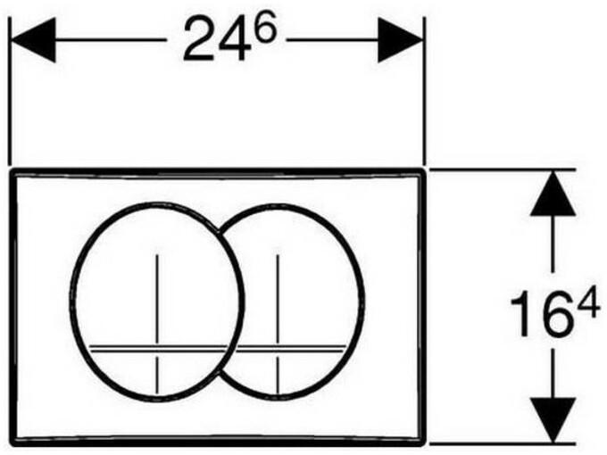 Geberit aktivna tipka za basic DUOFIX DELTA 20 115.100.11.1 bela