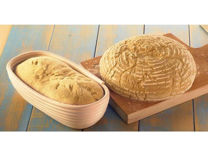 BIRKMANN okrogla košara za pripravo kruha 208964 18XH8cm