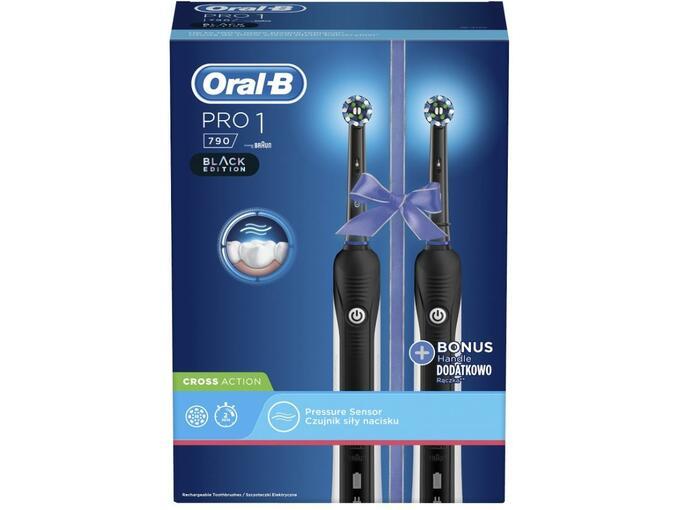 ORAL B električna zobna ščetka PRO1 790 DUO CROSS ACTION