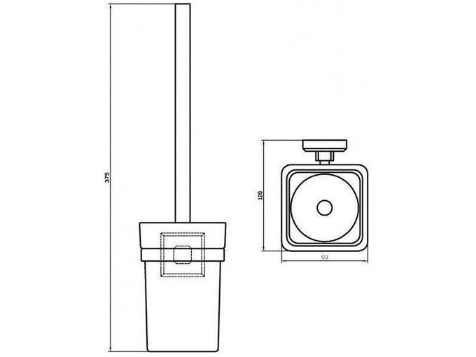 Aqua Rodos WC ščetka Leonardo LEO9929A
