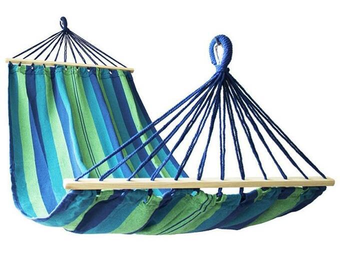 RULYT viseča mreža Calter FIESTA modro zelena RY-C-SITHOUP-C01
