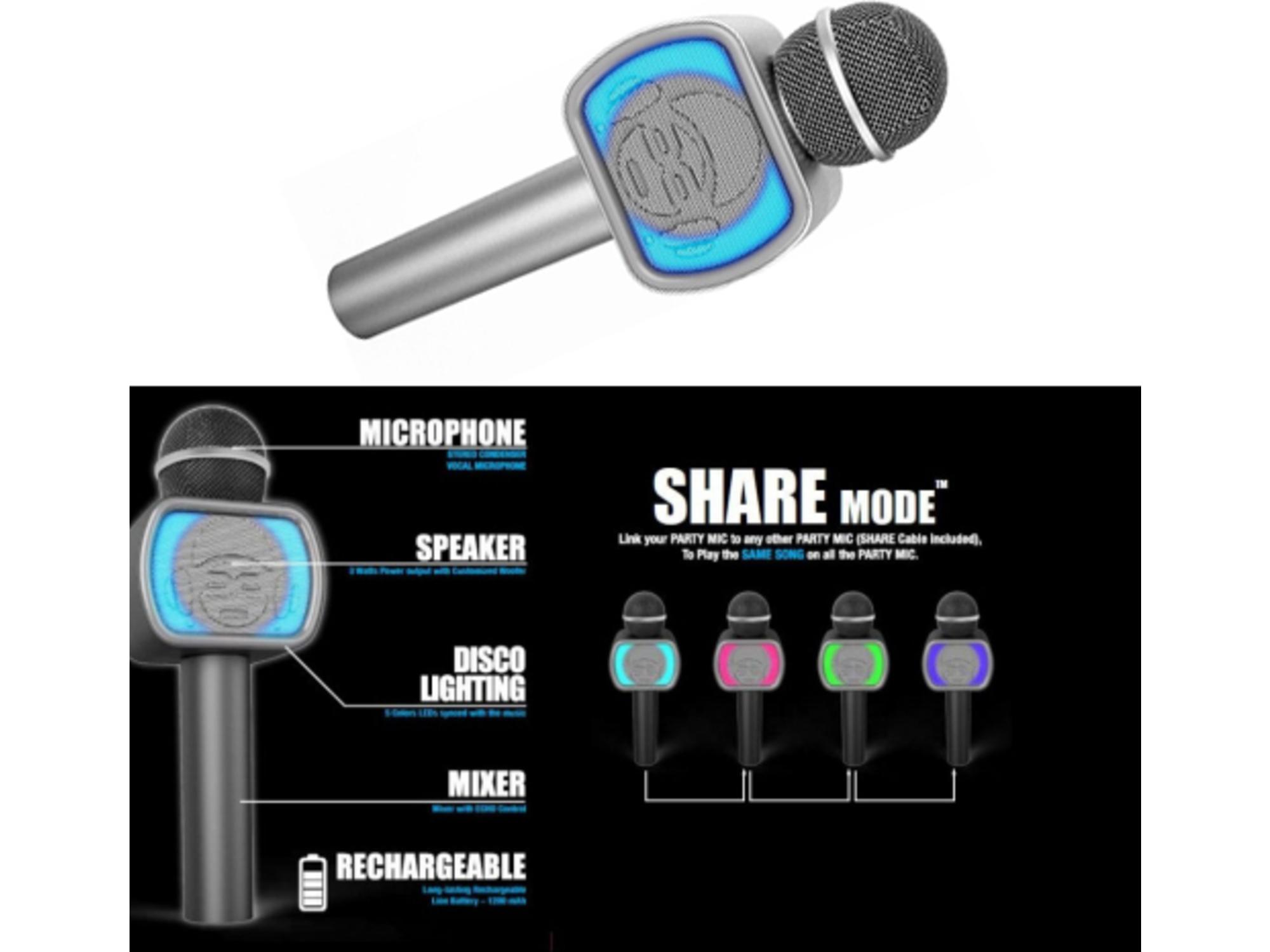 iDance Mikrofon PM20 Silver 33372