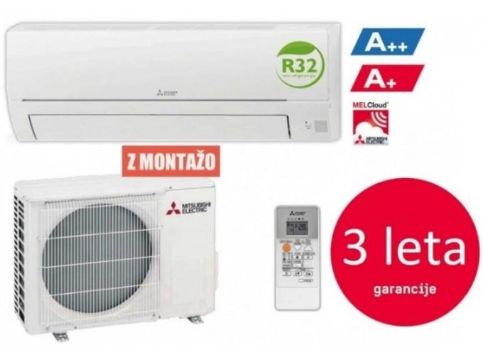 Mitsubishi Klimatska naprava z montažo MUZ/MSZ-HR25VF - 2,5 KW