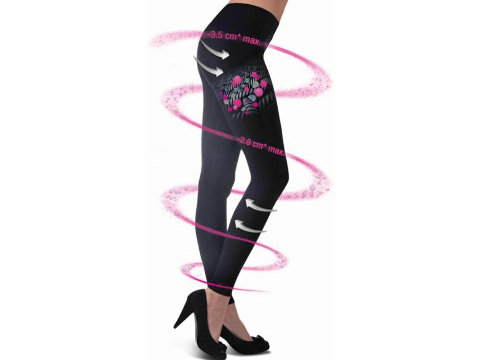 Lanaform hlače za hujšanje in oblikovanje postave COSMETEX LEGGING 40 DEN velikost L