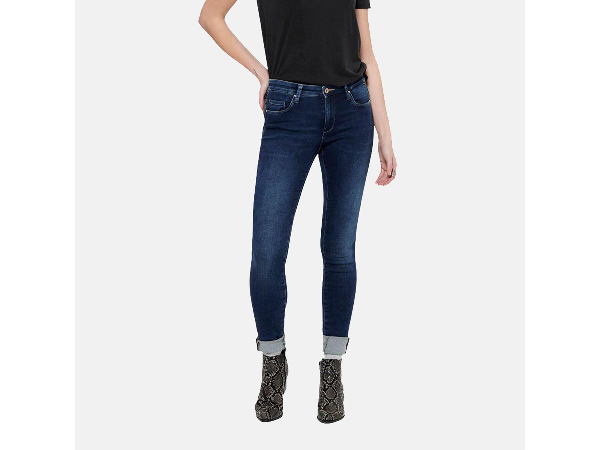 ONLY Ženski jeans 15195787 DARK BLUE DENIM 25/32 / DENIM MODRA
