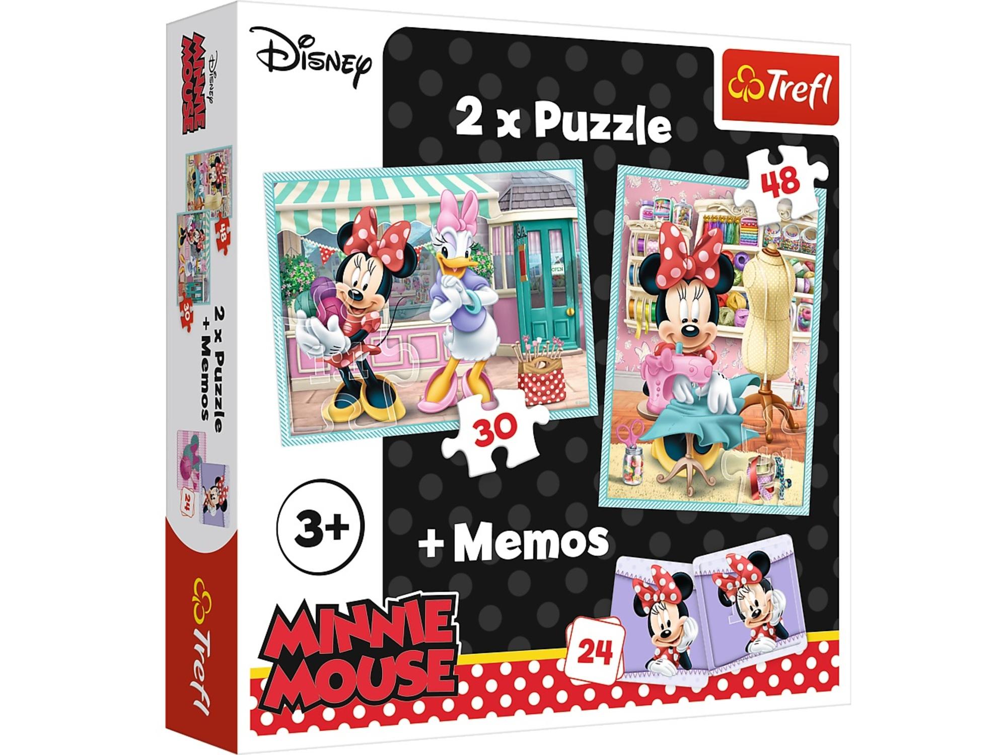 Trefl Slagalica x2 + Memos Minnie 12-906059
