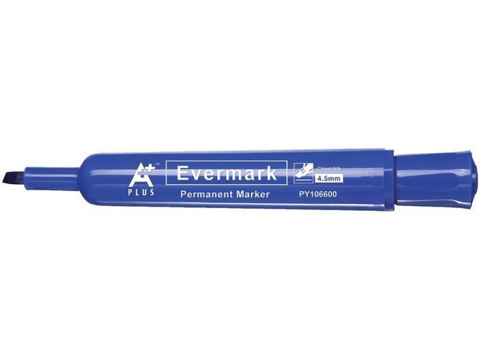 A PLUS permanentni marker BEPY1066L EVERMARK, moder prirezana konica