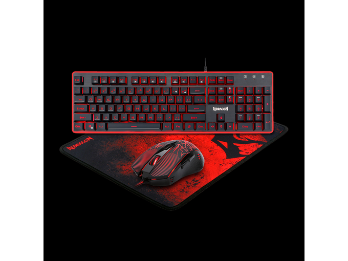 Redragon 3 in 1 Combo S107 Keyboard, Mouse and Mouse Pad 30622