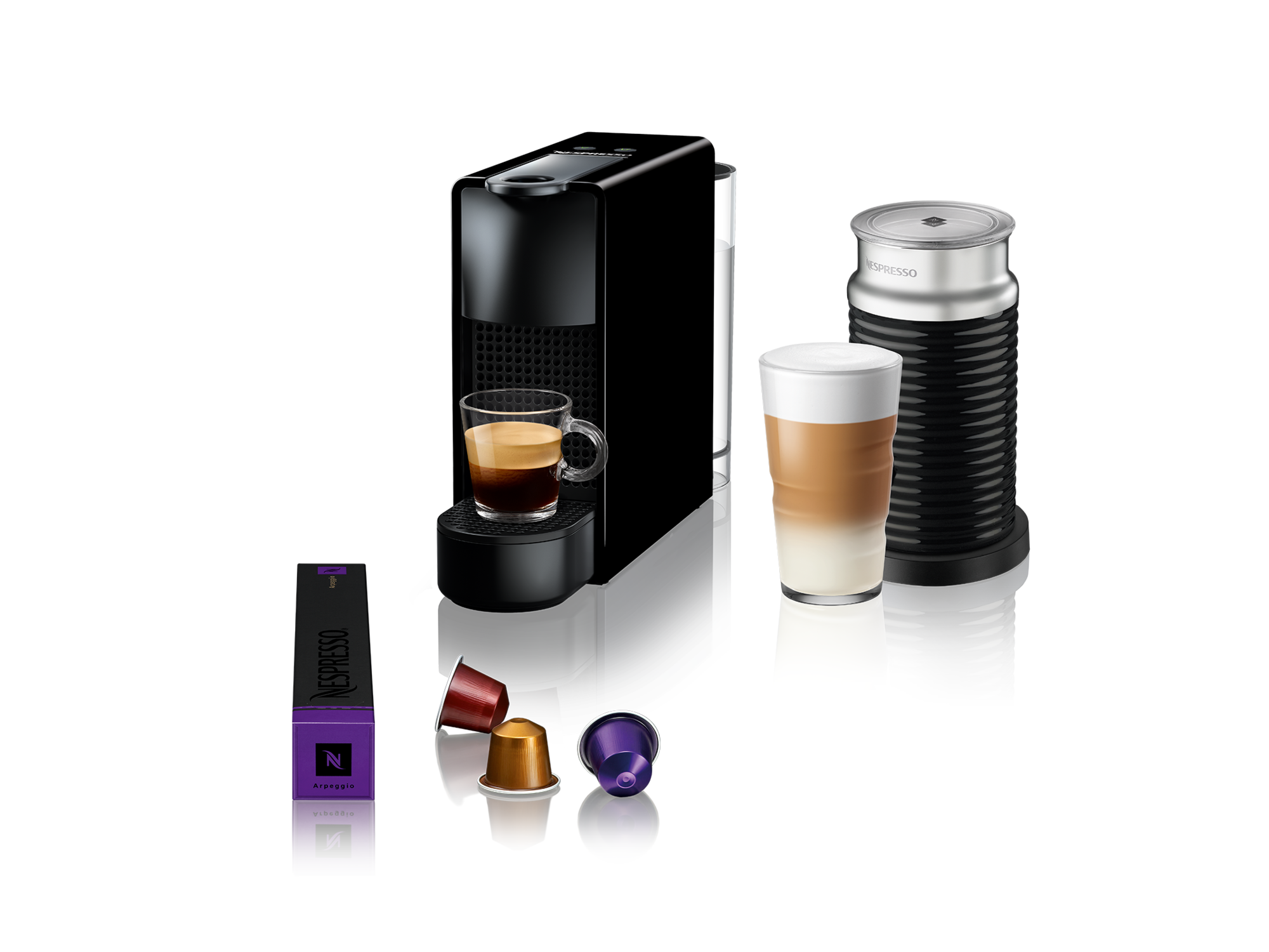 Nespresso Aparat za kafu Essenza Mini Black&Aeroccino A3NC30EUBK-TX