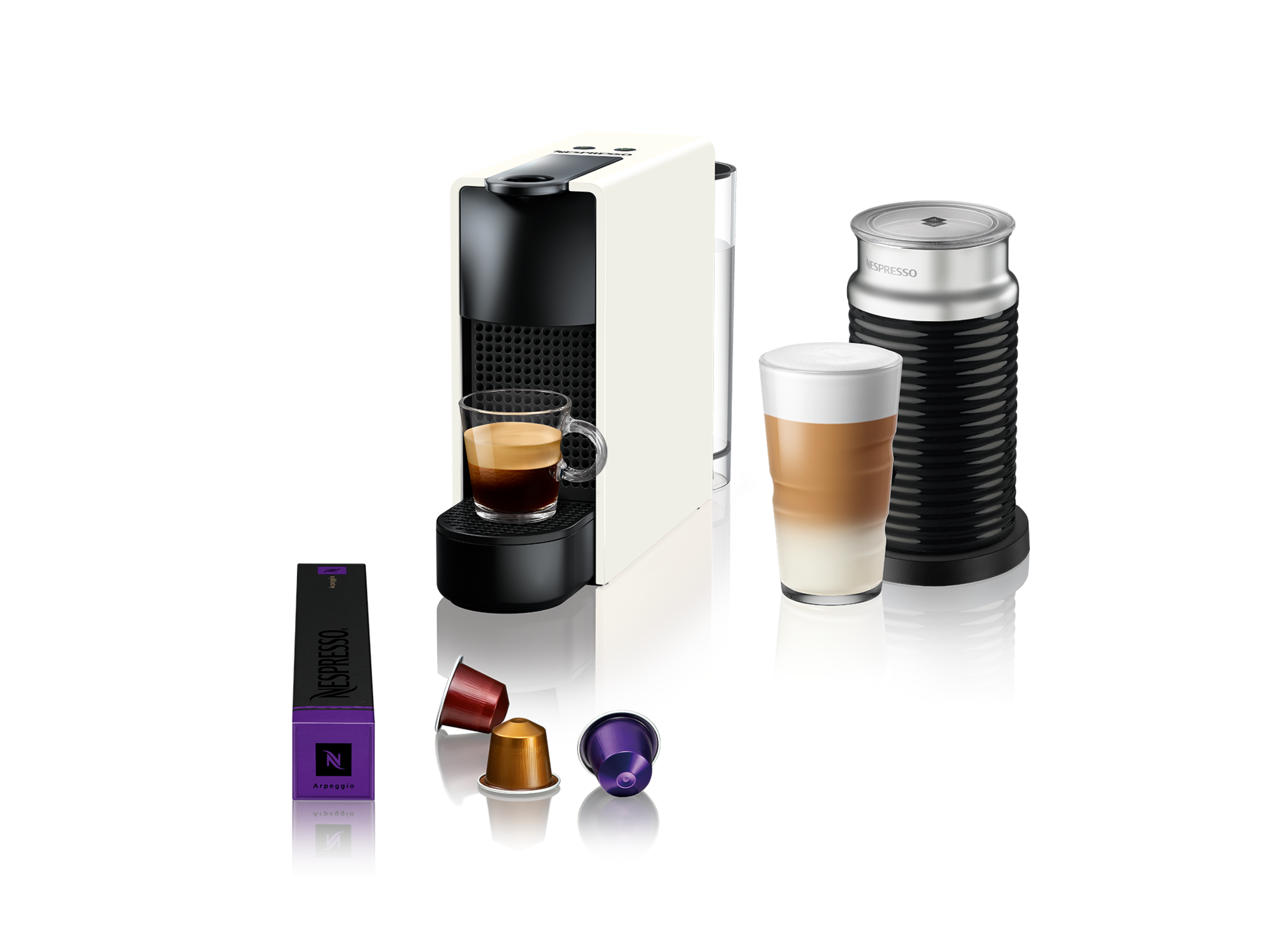 Nespresso Aparat za kafu Essenza Mini White&Aeroccino A3NC30EUWH-TX