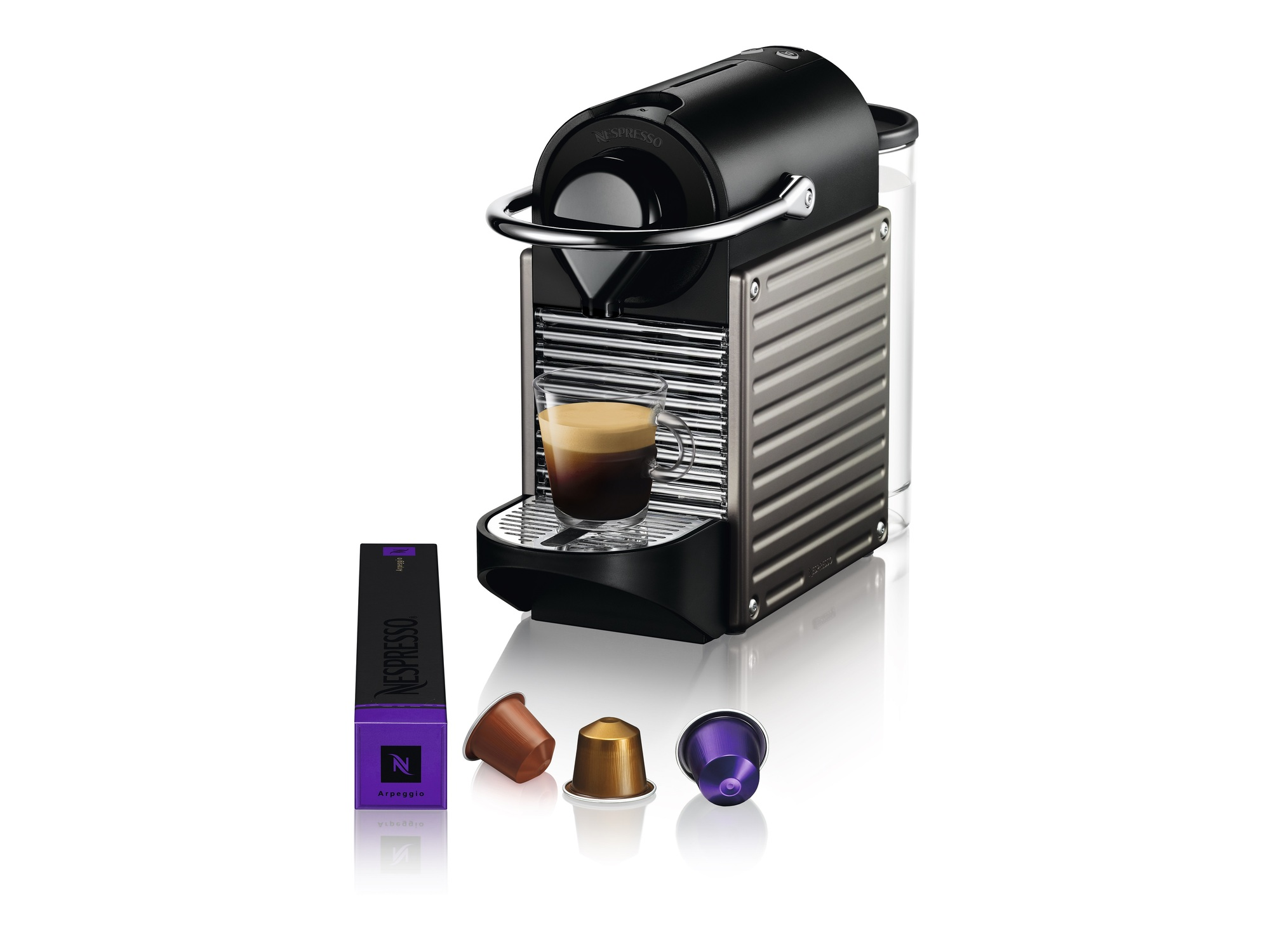 Nespresso Aparat za kafu Pixie Electric Titan C61-EUTINE-S