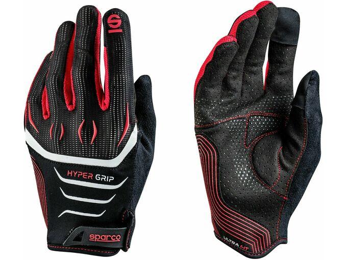 SPARCO SPARCO HYPERGRIP rokaviceTG.12 črno - rdeče barve