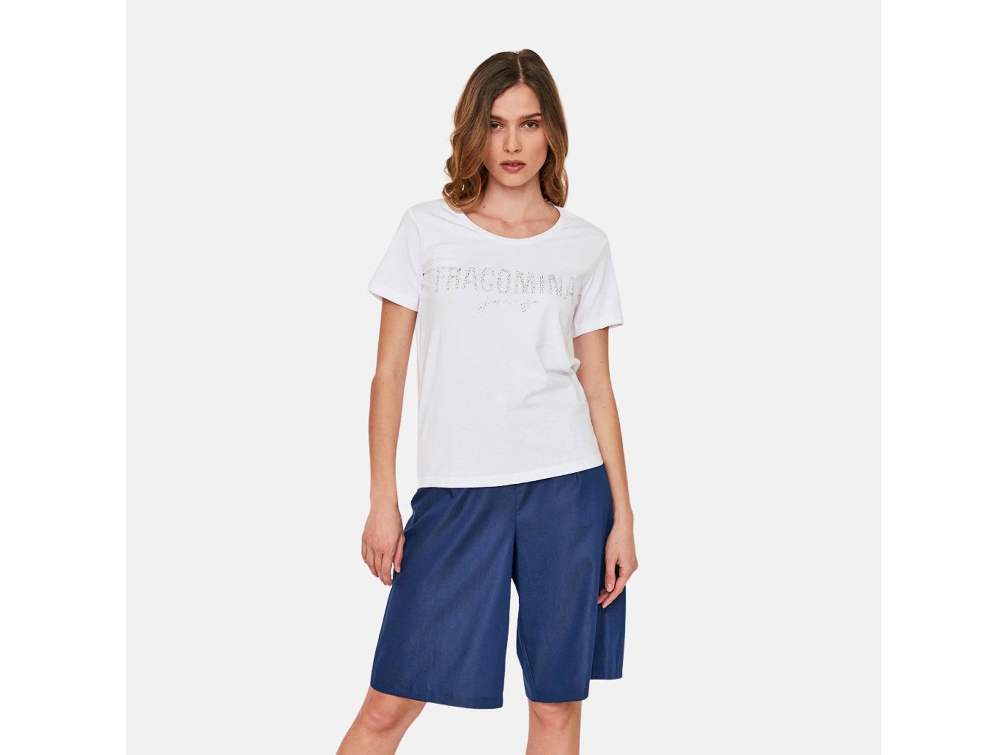 FRACOMINA Ženska majica kratek rokav FP21ST3018J40109 278 S / INTL BELA