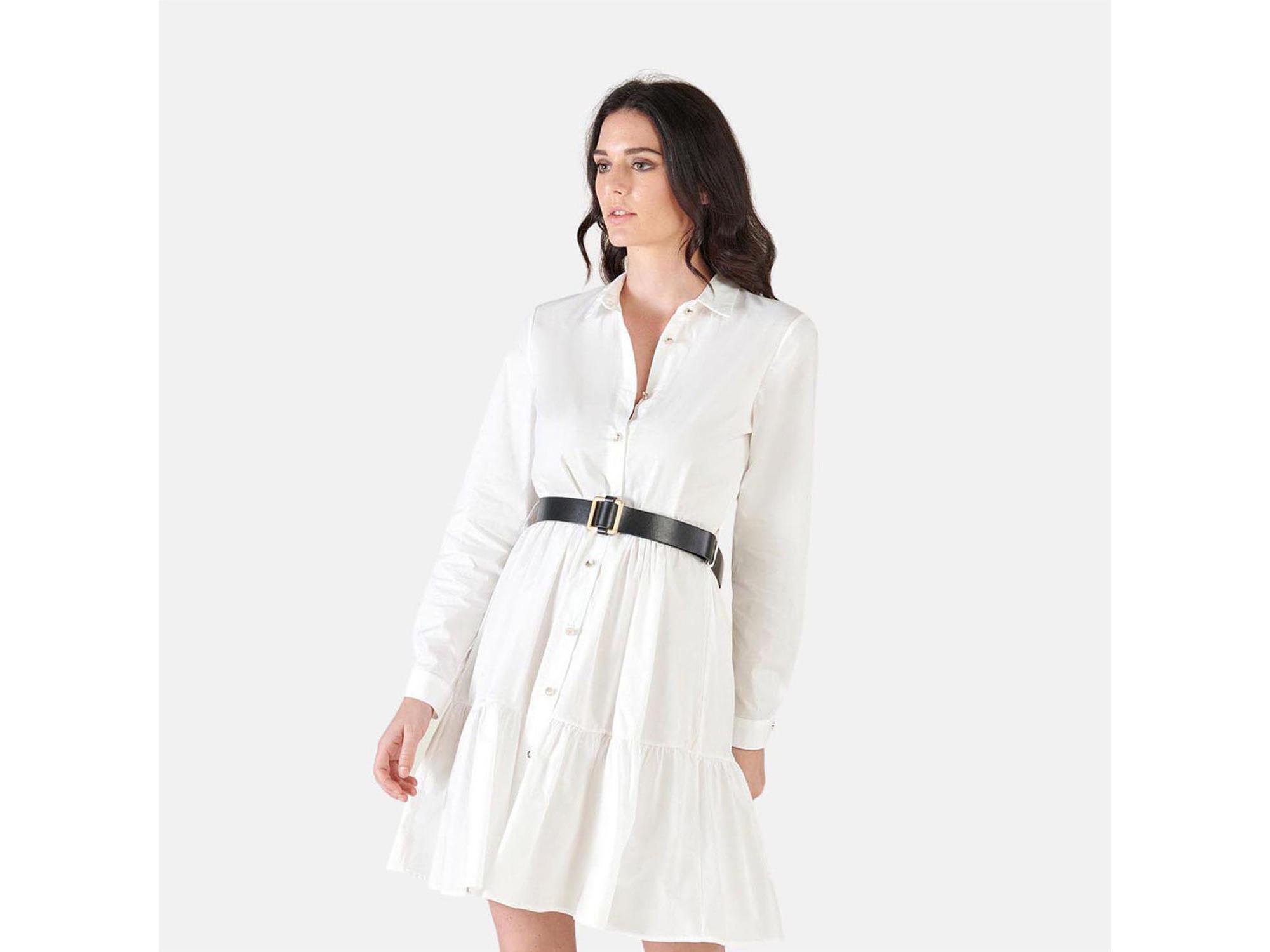 SILVIAN HEACH Ženska obleka PGP21337VE WHITE 42 / IT BELA