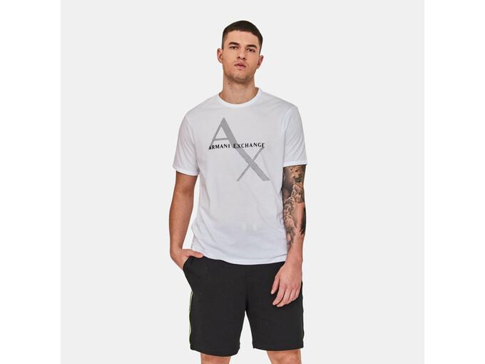 ARMANI EXCHANGE Moška majica kratek rokav 8NZT76 Z8H4Z 1100 XXL / INTL BELA