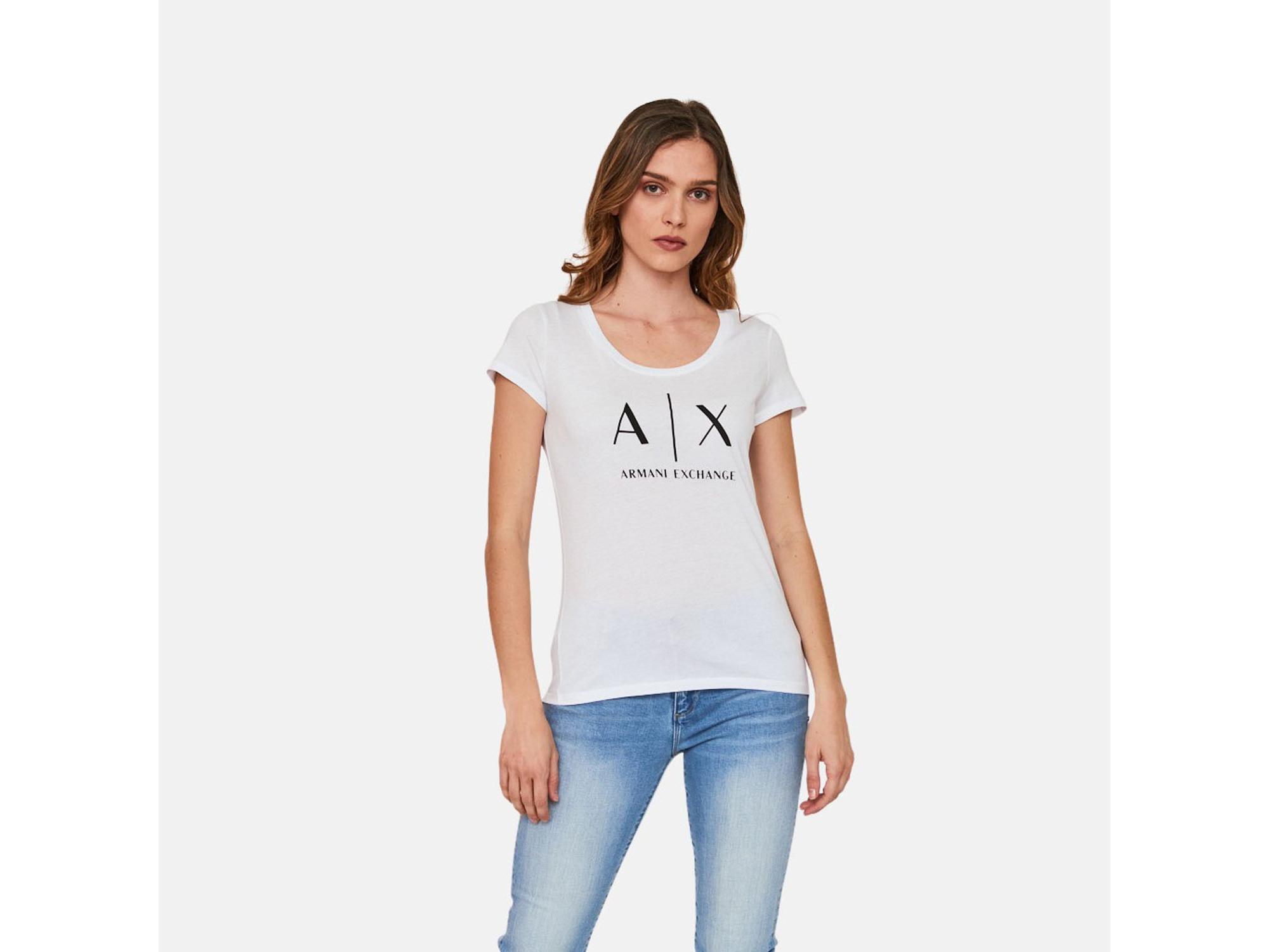 ARMANI EXCHANGE Ženska majica kratek rokav 8NYT70 YJ16Z 1000 S / INTL BELA