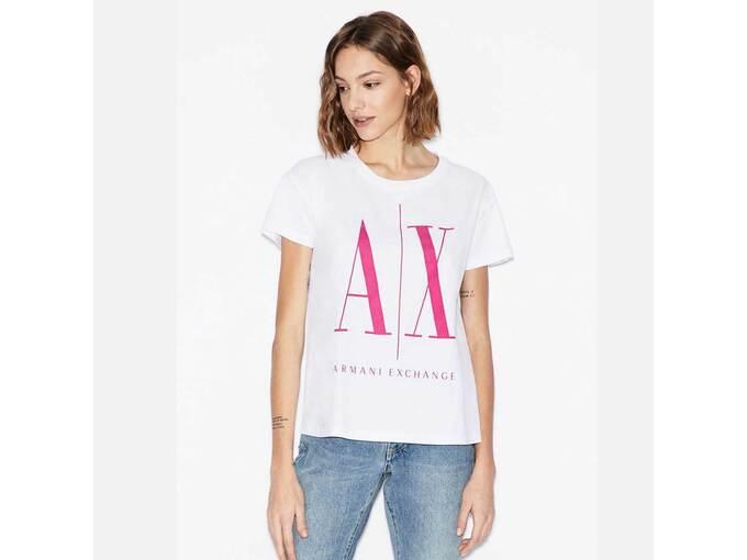 ARMANI EXCHANGE Ženska majica kratek rokav 8NYTCX YJG3Z 7142 S / INTL BELA
