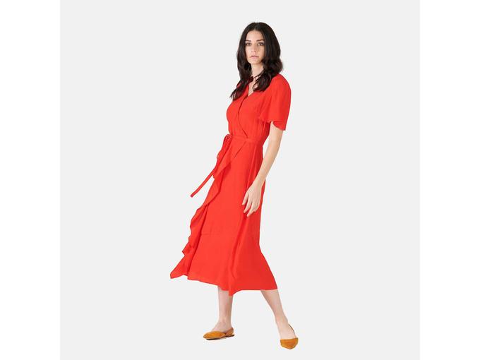SILVIAN HEACH Ženska obleka PGP21341VE RED FLAME 44 / IT RDEČA