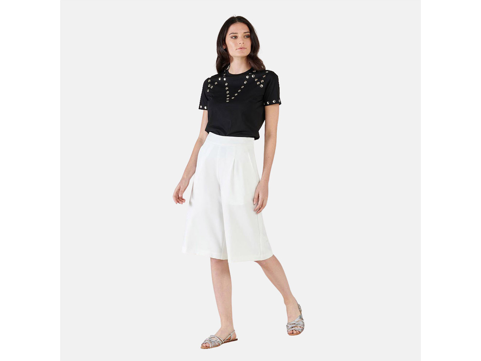 SILVIAN HEACH Ženske hlače PGP21060BE MILK 46 / IT BELA