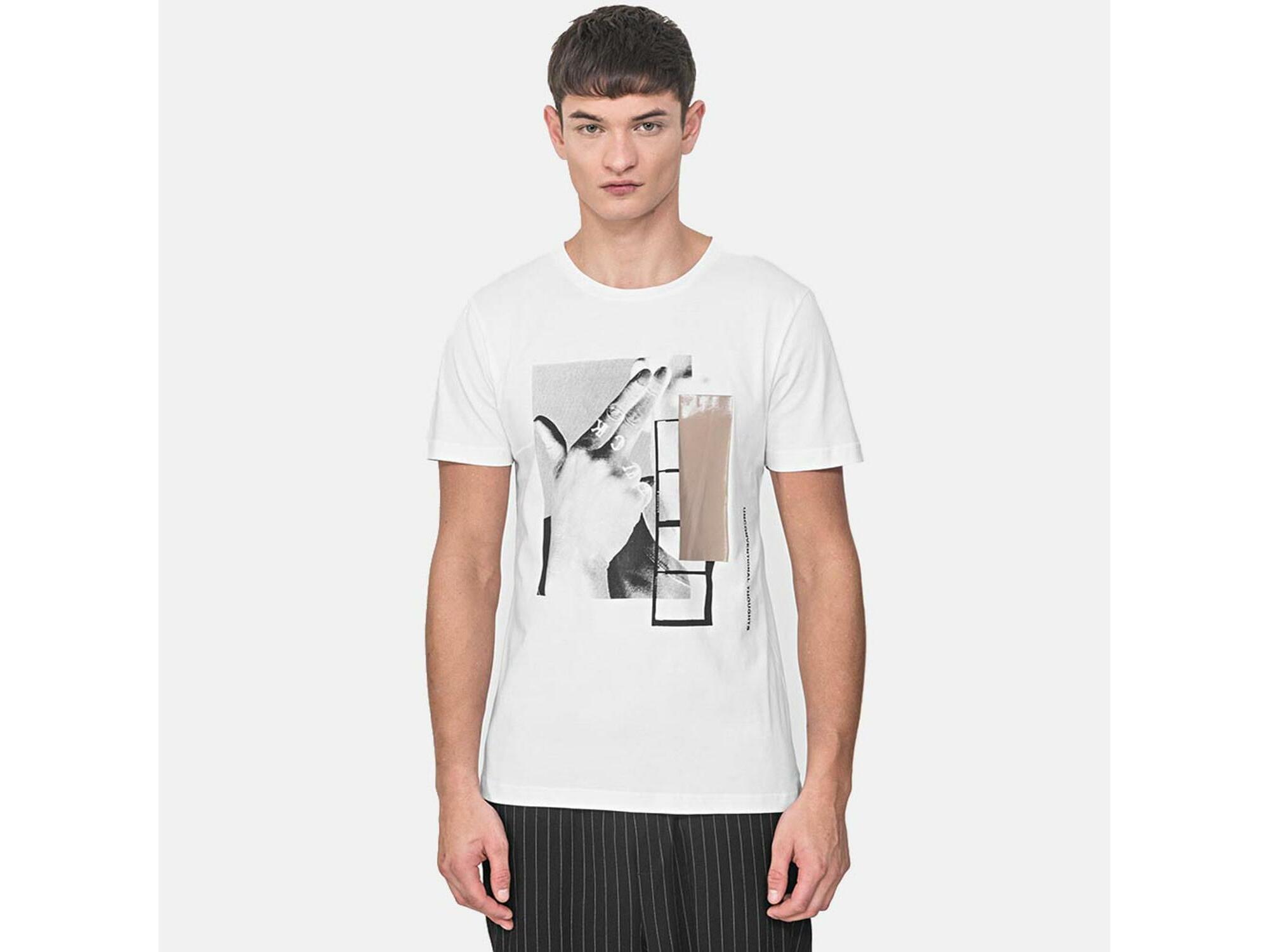 ANTONY MORATO Moška majica kratek rokav MMKS01767FA100144 1000 XXL / INTL BELA