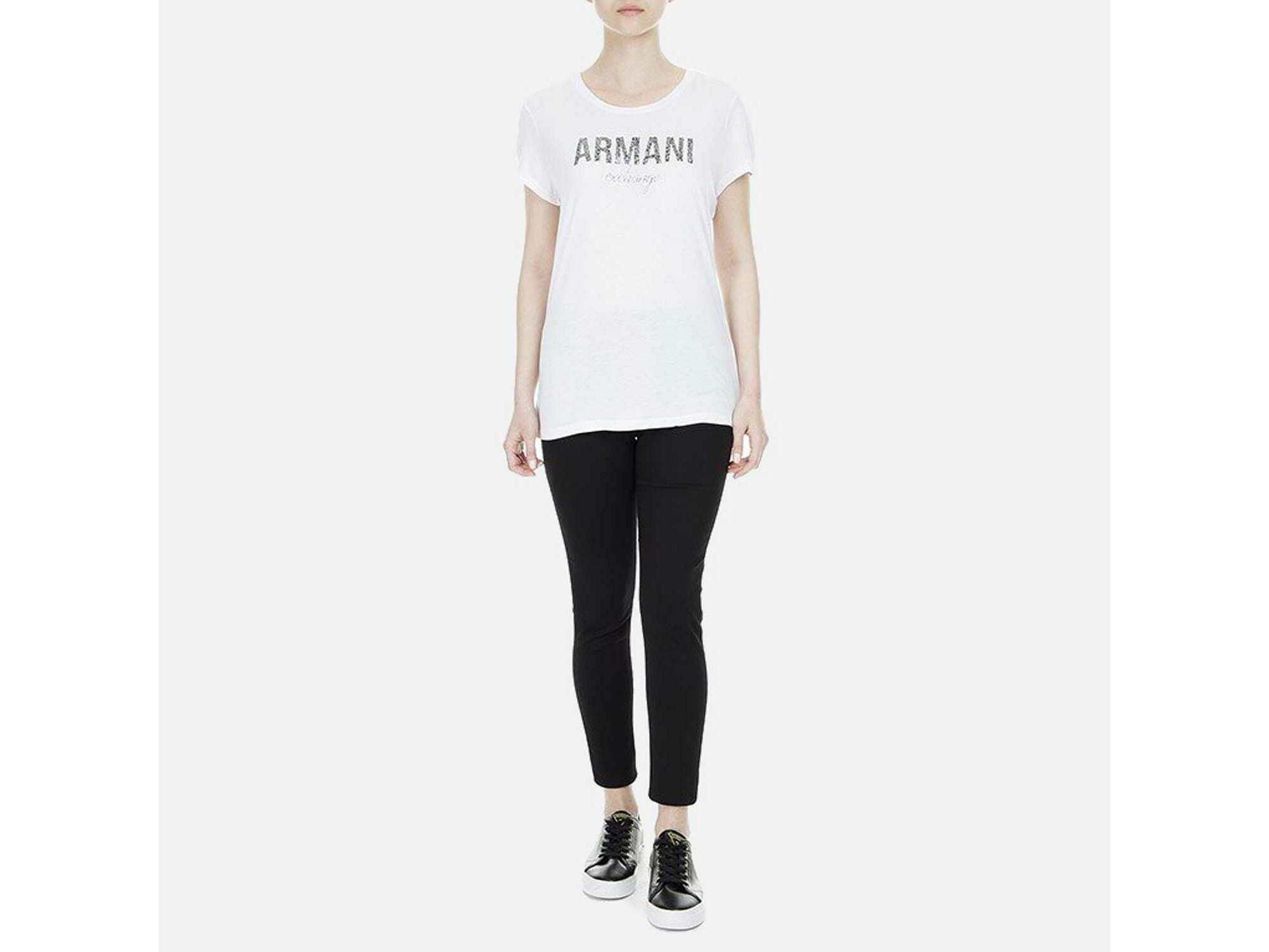 ARMANI EXCHANGE Ženska majica kratek rokav 8NYT98 Y9C8Z 1000 L / INTL BELA