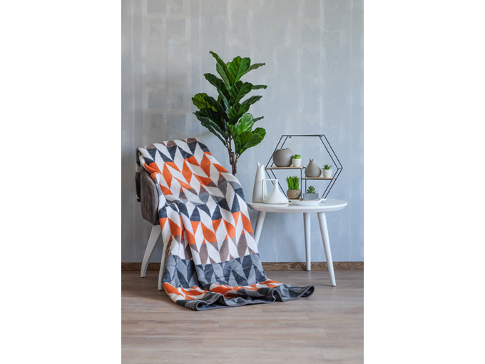 DekorDom Ćebe Eco Blanket 18118-A Yellow Squares