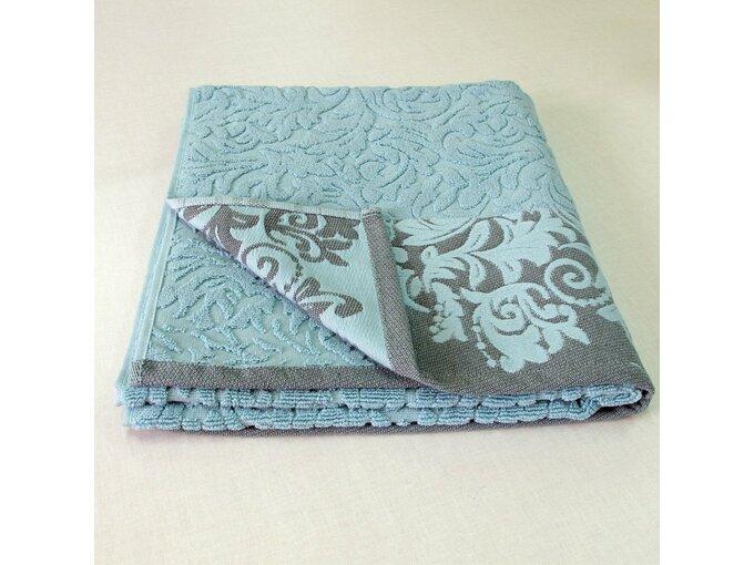 DekorDom Peškir Jacquard Floral 70X140cm Turquoise