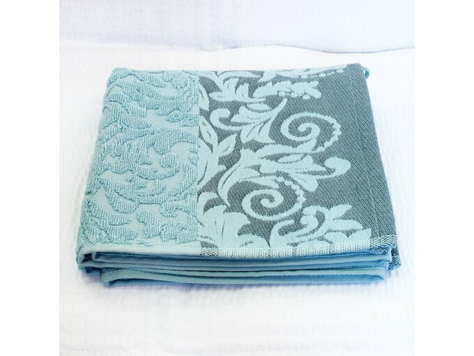 DekorDom Peškir Jacquard Floral 50X90cm Turquoise