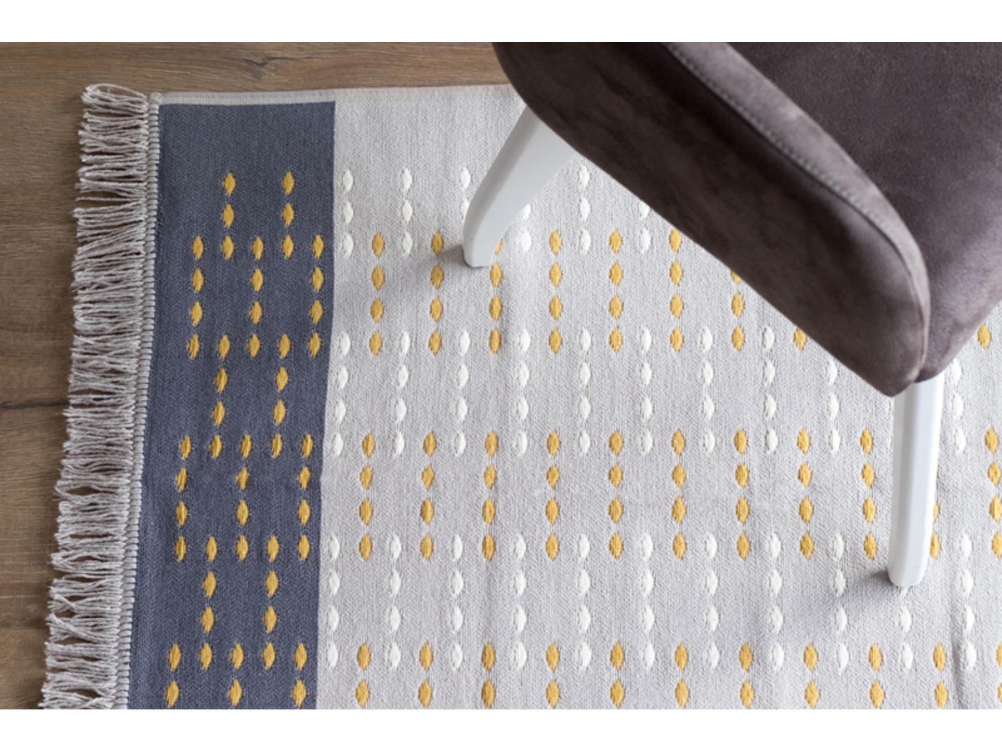 DekorDom Tepih Stella 60x90cm - Sp-Klm 163 B - Beige Mustard