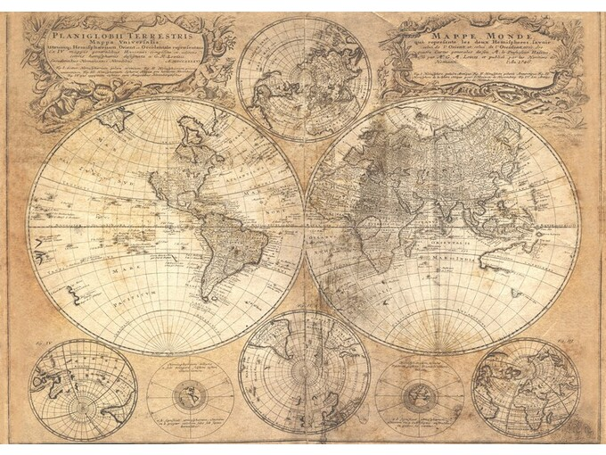 Slika 140x100cm Toir21041 - World Map