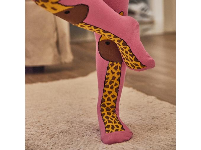 Fist Pamučni hulahop za decu Žirafa