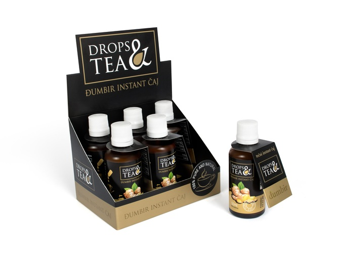 Drops&tea Instant čaj đumbir 6/1