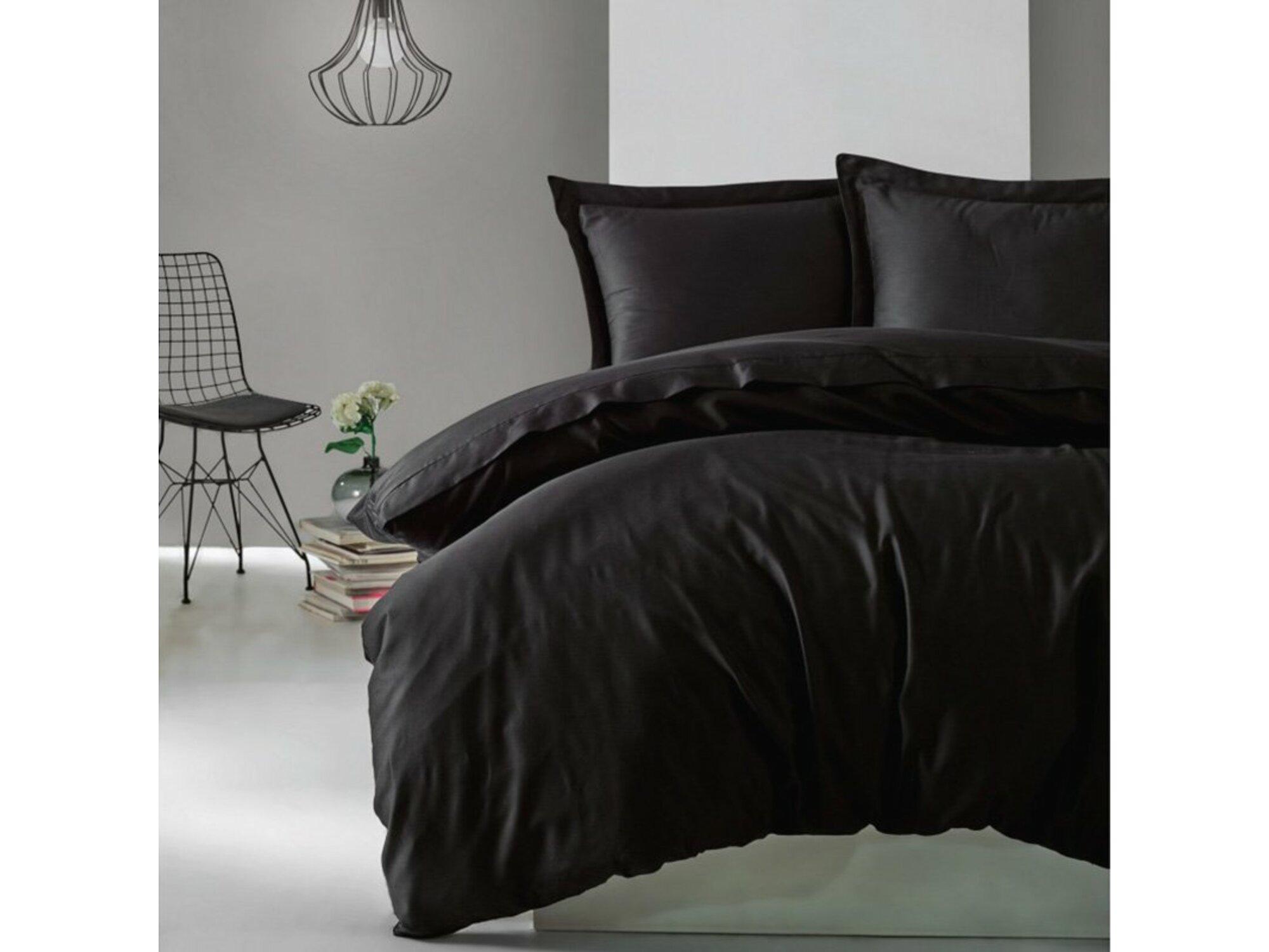 Cotton Box Posteljina Elegant Saten - Siyah