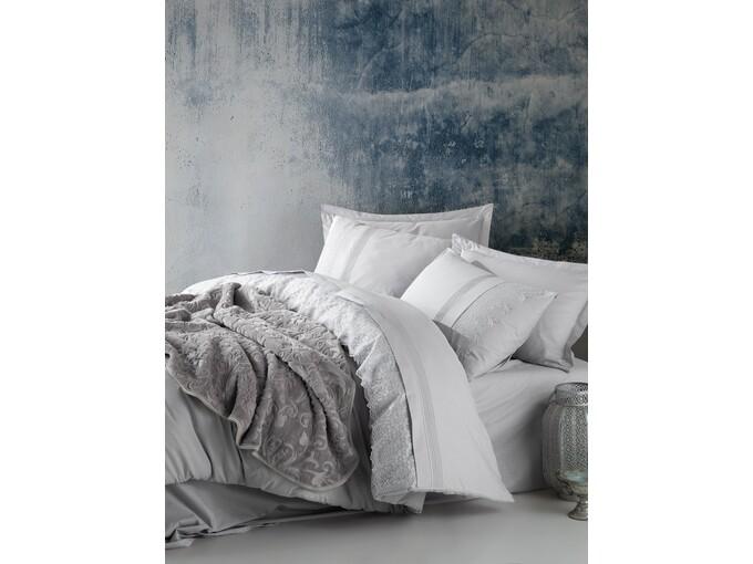 DekorDom Cb Emboss Set ćebe+posteljina - Gri