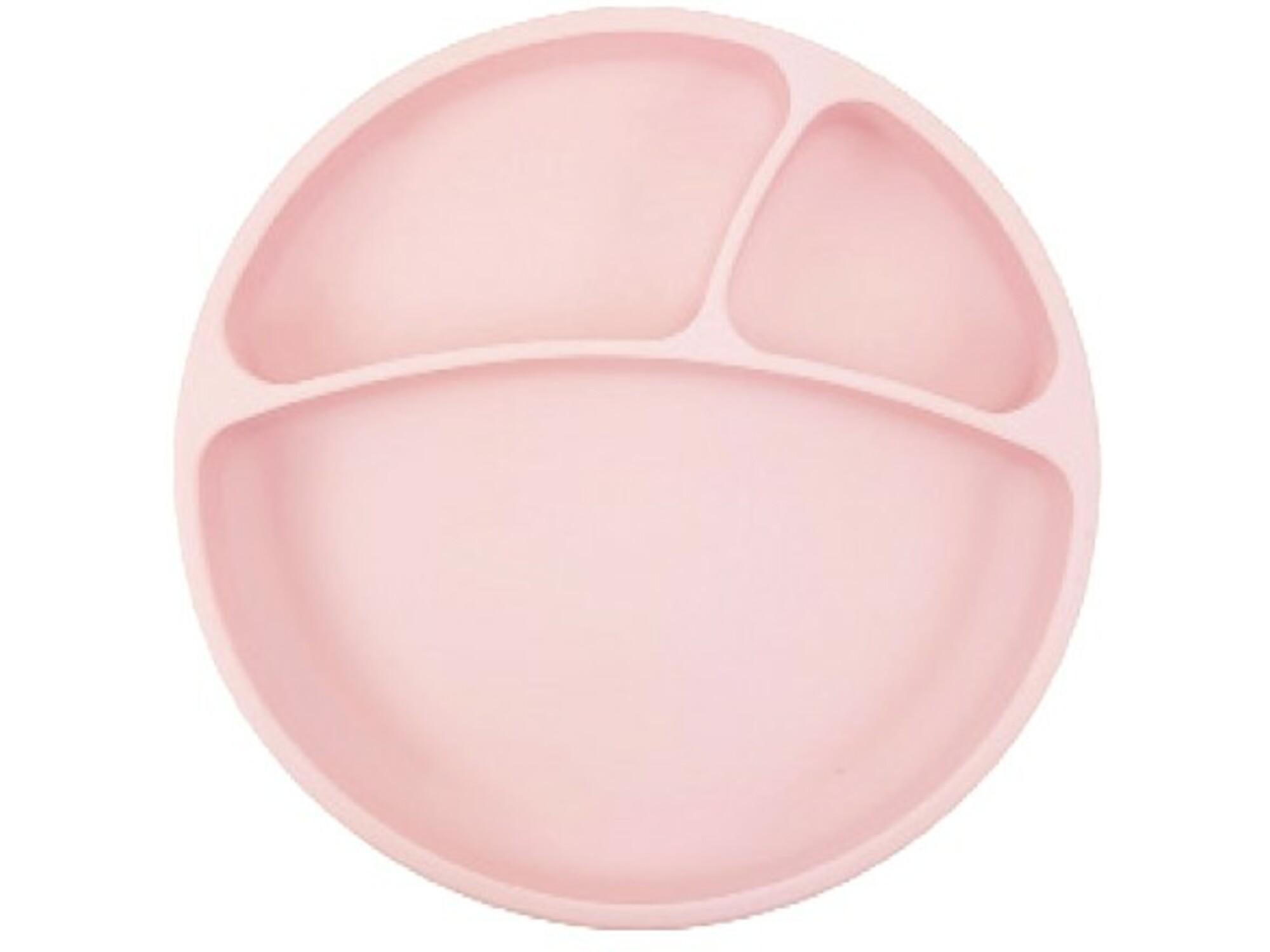 MINIKOIOI otroški krožnik iz silikona in vakumsko pritrditvijo Portions - roza
