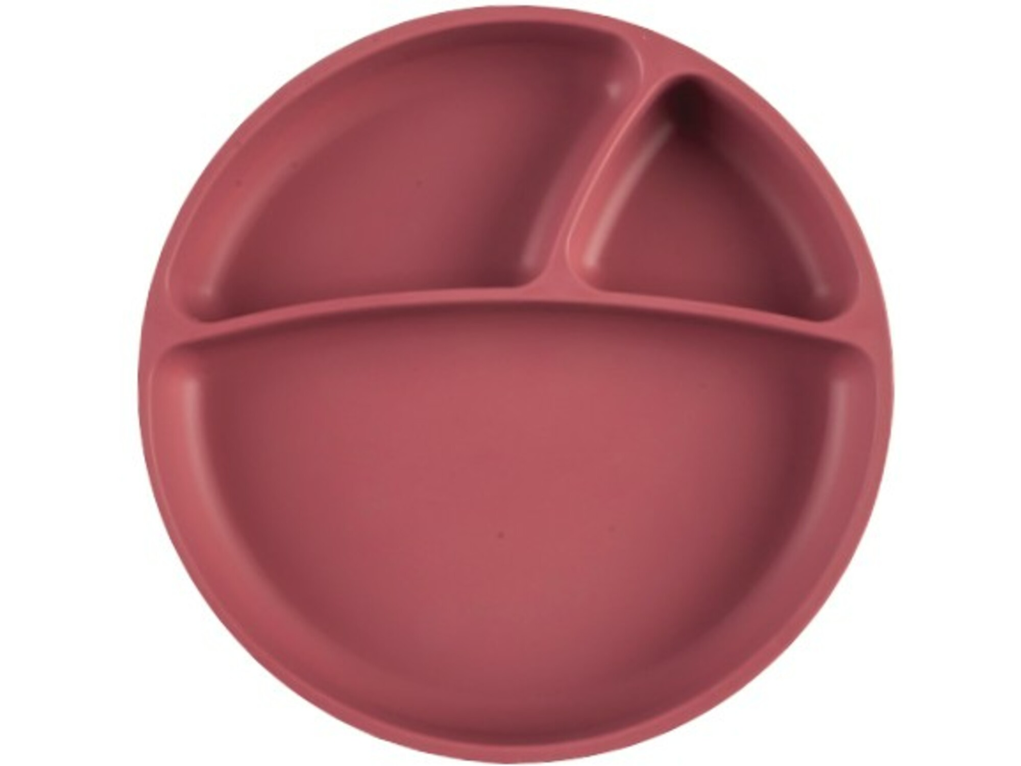 MINIKOIOI otroški krožnik iz silikona in vakumsko pritrditvijo Portions - rdeča