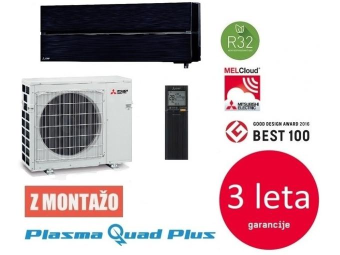 Mitsubishi Klimatska naprava z montažo MUZ/MSZ-LN50VG2 - 5 KW, črna