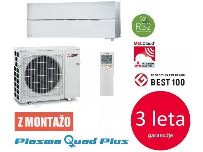 Mitsubishi Klimatska naprava z montažo MUZ/MSZ-LN50VG2 - 5 KW, bela