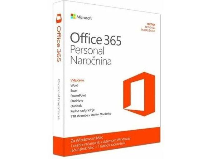 Microsoft 365 Personal, enoletna naročnina, slovenski jezik QQ2-01005